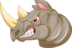 Angry rhino cartoon character Stock Photos