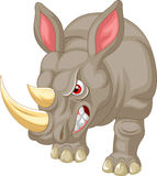 Angry rhino cartoon character Stock Image