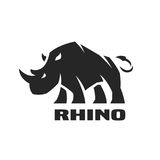 Angry rhino. Monochrome logo. Angry rhino. Monochrome logo, symbol Vector illustration vector illustration