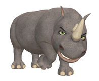 Angry Rhinoceros Stock Photography