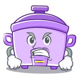 Angry rice cooker character cartoon Stock Photography