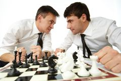 Angry rivals royalty free stock images