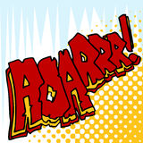 Angry Roar Sound Effect Text Stock Image
