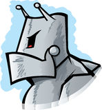 Angry Robot. Drawing of an angry cartoon robot Stock Images