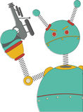 Angry Robot With Sci-fi Gun Retro Vintage Stock Photography