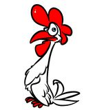 Angry rooster cartoon illustration Stock Photo