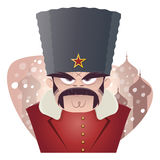 Angry russian or soviet man Royalty Free Stock Photo