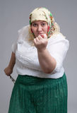 Angry Russian woman Royalty Free Stock Photo
