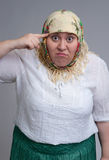 Angry Russian woman Stock Photo