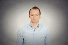 Angry sad annoyed skeptical, grumpy business man Stock Images
