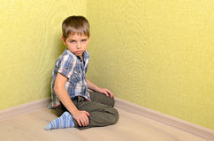 Angry and sad boy Royalty Free Stock Photography