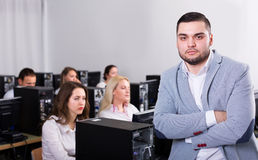 Angry sales department manager displeased Stock Photography