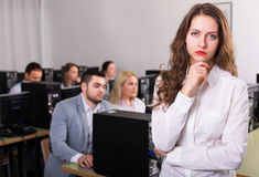 Angry sales department manager displeased Stock Photos