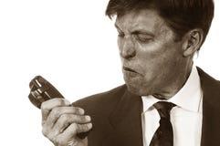 Angry Salesman stock image