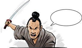 Angry Samurai Stock Image