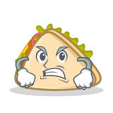 Angry sandwich character cartoon style Stock Image