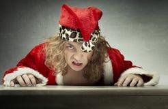 Angry Santa royalty free stock image