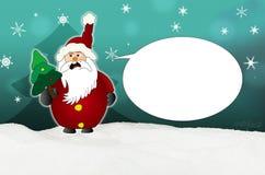 Angry Santa Claus Comic balloon Stock Image