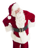 Angry Santa Claus Standing With Hands On Hips. Portrait of angry Santa Claus standing with hands on hips isolated over white background Stock Photo
