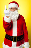 Angry Santa showing middle finger Royalty Free Stock Image
