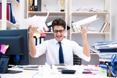 The angry and scary businessman in the office. Angry and scary businessman in the office Stock Images