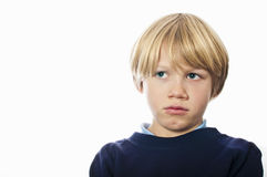 Angry school boy Stock Photo