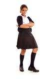 Angry schoolgirl Stock Photography