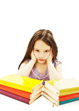 Angry schoolgirl with learning difficulties Royalty Free Stock Photography