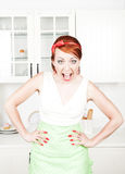 Angry screaming housewife Stock Image