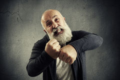 Angry screaming senior man Royalty Free Stock Images