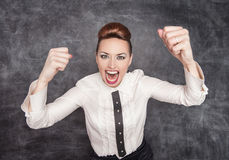 Angry screaming teacher Royalty Free Stock Photo