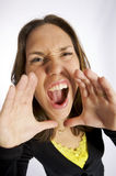 Angry screaming woman Royalty Free Stock Photos