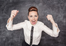 Angry screaming woman Stock Photography