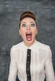Angry screaming woman Royalty Free Stock Photo