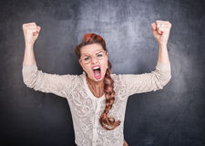 Angry screaming woman Stock Photos