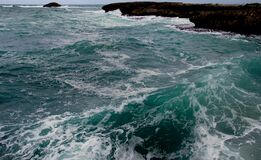 The angry Sea. Royalty Free Stock Photography