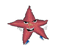 Angry Sea star cartoon Royalty Free Stock Photography