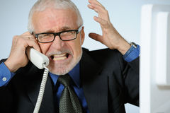 Angry senior businessman Royalty Free Stock Images