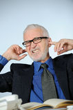 Angry senior businessman Stock Photo