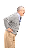 An angry senior gentleman shouting Stock Images