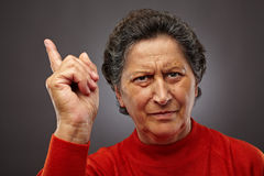 Angry senior lady Royalty Free Stock Images
