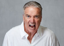 Angry senior man Royalty Free Stock Images