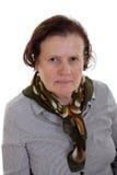 Angry senior woman Stock Image