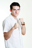 Angry serious young man Stock Image