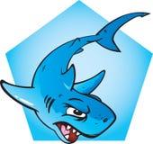 Angry Shark. A Large cartoon illustration of an angry shark Stock Photo