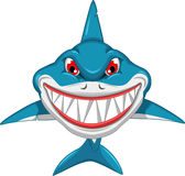 Angry shark cartoon Stock Photo