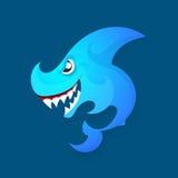 Angry shark logo Royalty Free Stock Photo