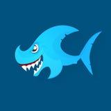 Angry shark logo Stock Photo