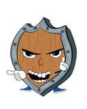 Angry Shield cartoon Royalty Free Stock Photo