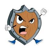 Angry Shield cartoon Royalty Free Stock Image
